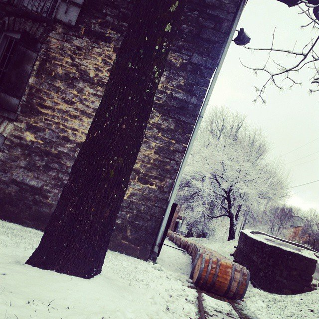 Winter comes to Woodford Reserve