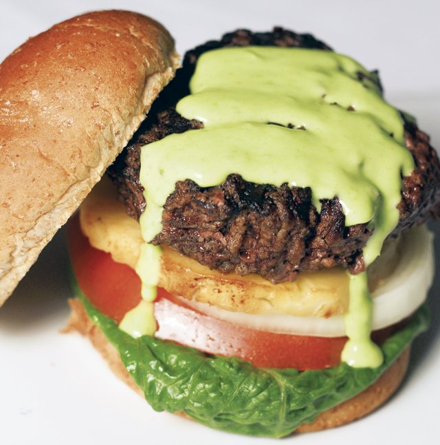 Pineapple-Wasabi Burger