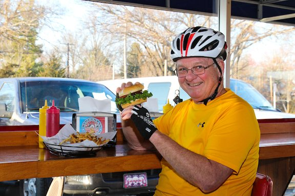 Kirk Alliman with burger