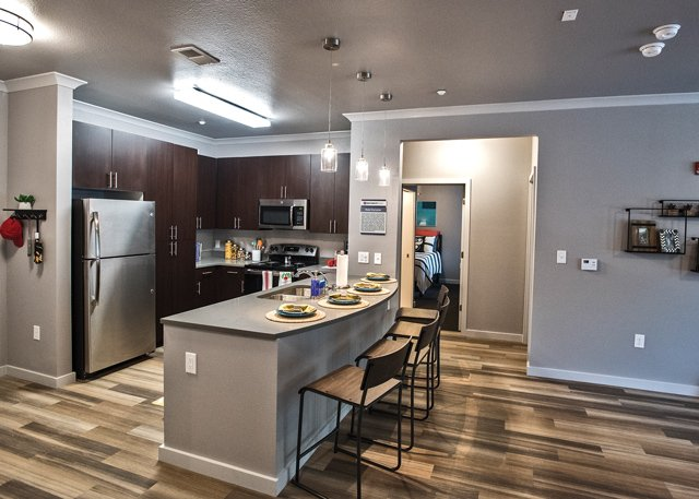 Kitchen Space In One Of The Units Of University Pointe At UofL Part 96