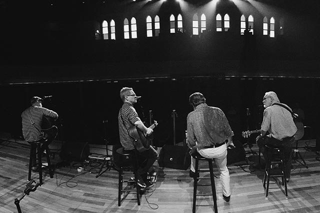 Dad, Herbie, Caleb and Me on Ryman stage