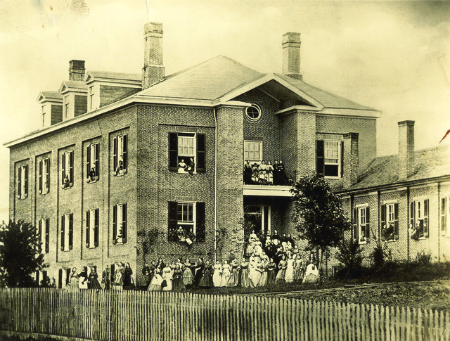 1866 Pinkerton Hall Teachers and Students.jpg