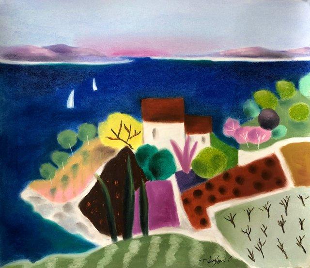 Morning Sail 20x23 pastel on paper.jpg