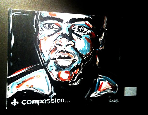 Mitcham Ali painting