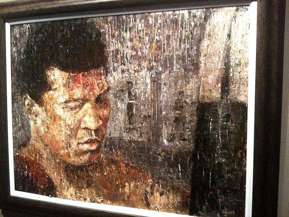 Okeith Ali painting