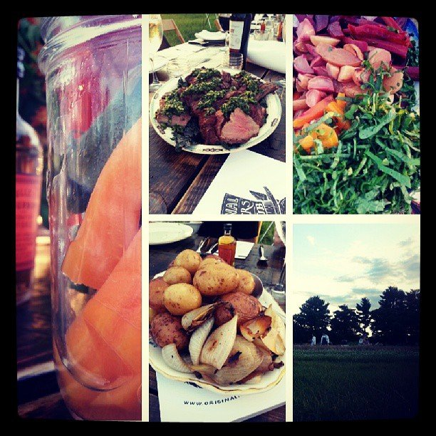 Summer dinner at Foxhollow Farm