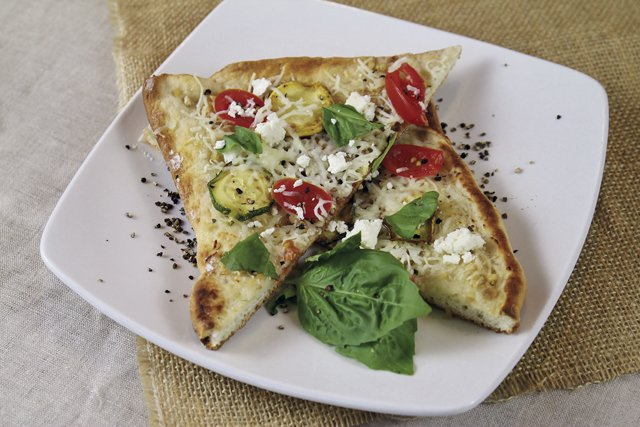 tomato and zucchini pizza