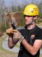 Ziplining Aaron Charles