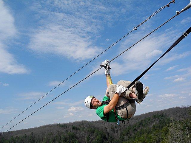 Ziplining Sam Speed